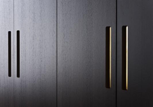 Merveilleux Detail Of The Brass Handles. Walk In Closet.